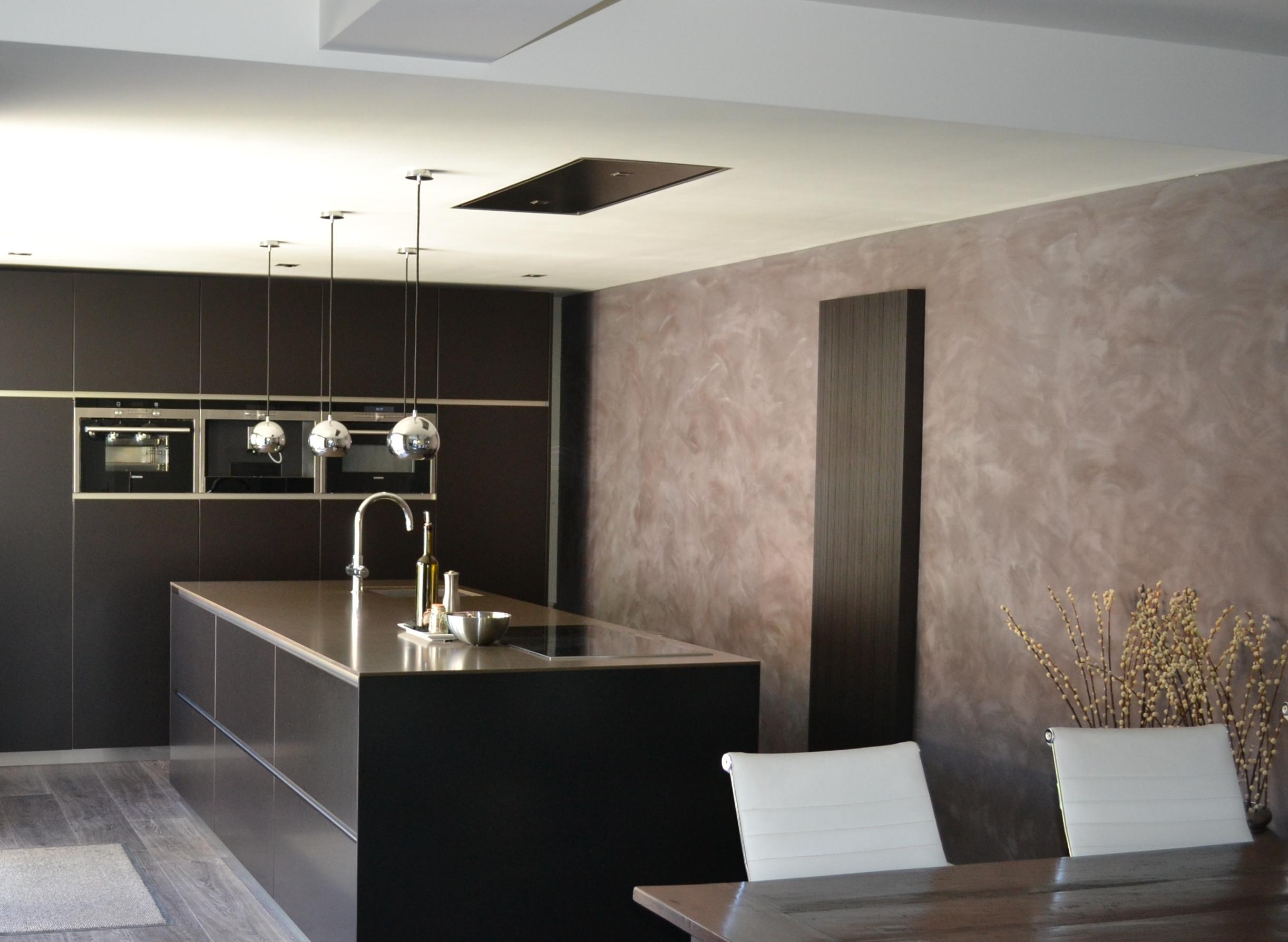 Achterwand Keuken Mdf : Keuken, Zwart/Bruin met Composiet Werkblad – PDI Interieurbouw