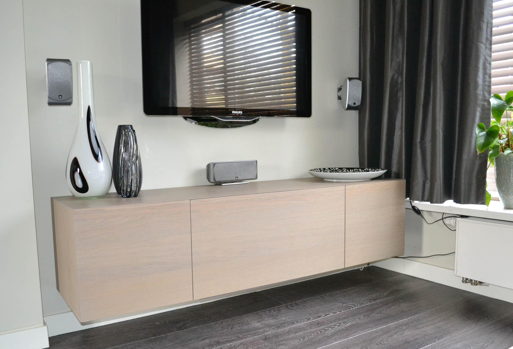 Tv audio meubel eiken pdi interieurbouw