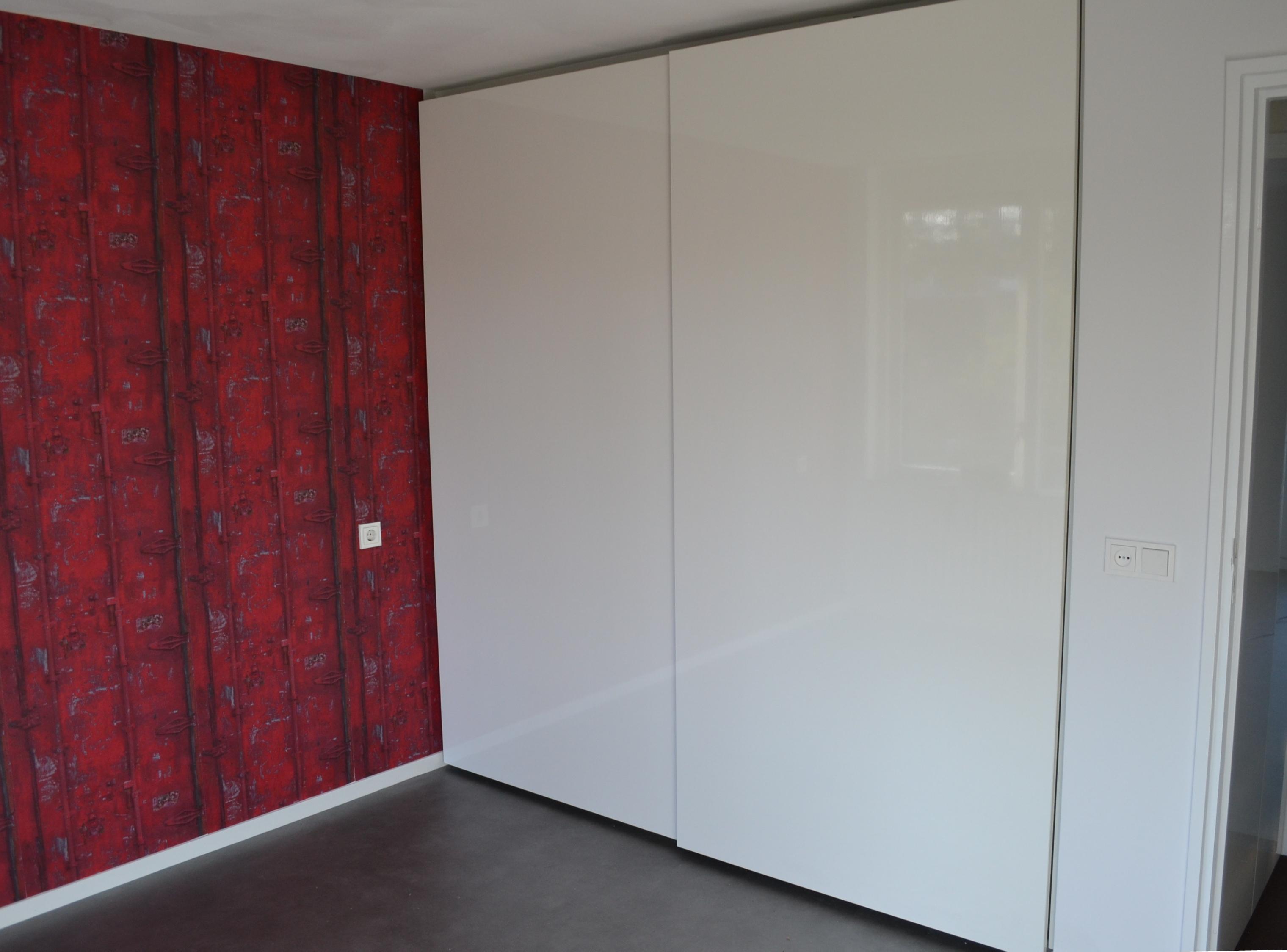 Slaapkamer Kast Schuifdeuren : Dubbele inbouw kledingkast pdi interieurbouw